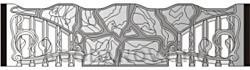 Плита бетонного забора К2