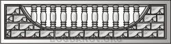 Плита бетонного забора A2