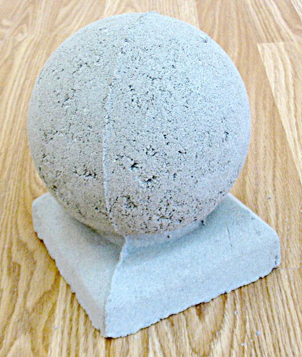 Как сделать бетонные шары своими руками 12