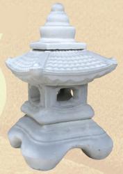 Фонарик домик из бетона