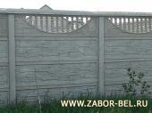 Бетонный забор фото №32