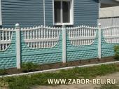 Бетонный забор фото №34