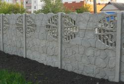 Плита бетонного забора К1