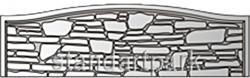 Плита бетонного забора Д6