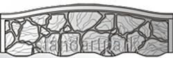 Плита бетонного забора К4