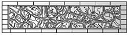 Плита бетонного забора П6