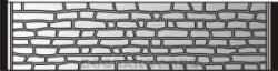 Плита бетонного забора A11