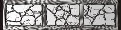 Плита бетонного забора П9